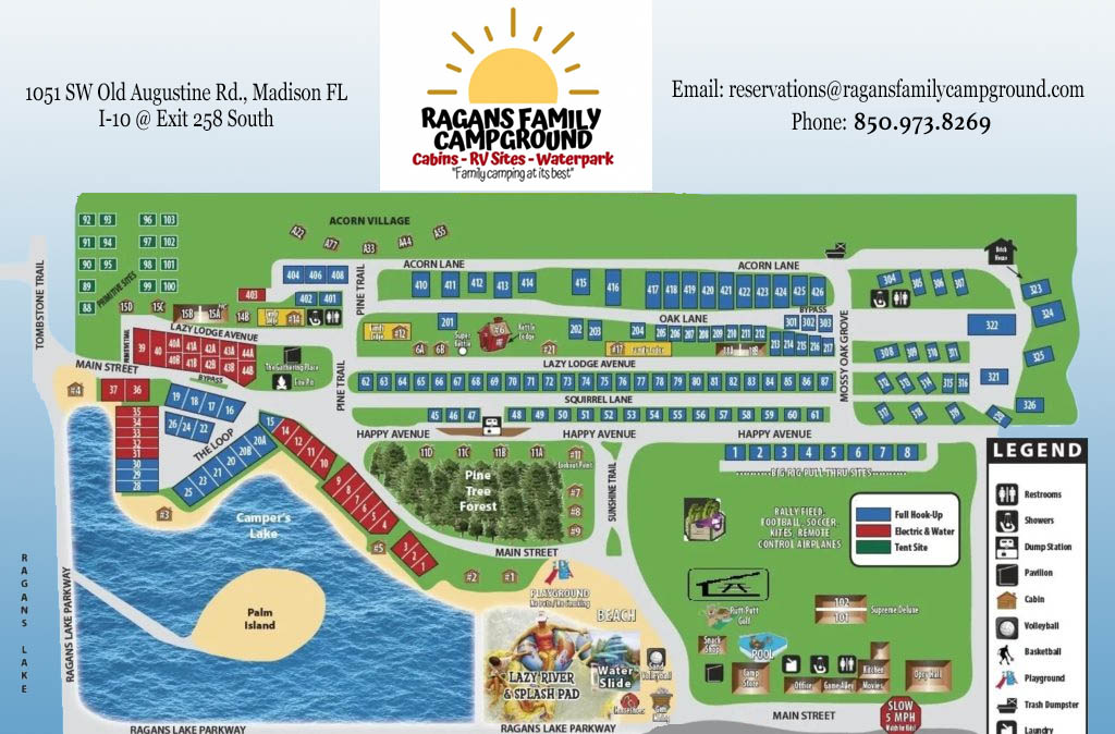 ragans family campground map